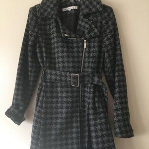 Black and Grey Plaid Kenneth Cole coat